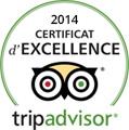 Certificat excellence Tripadvisor 2014